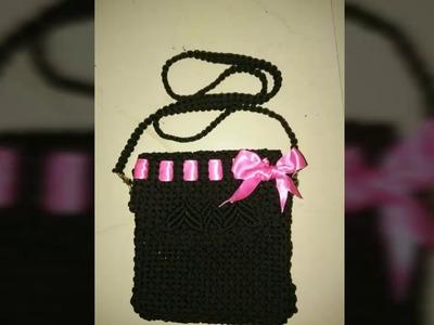 How to make macrame handbag # design 7 (part 1)