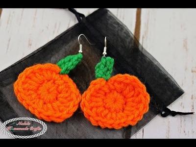 How to make Mini Pumpkin Earrings - Free Crochet Pattern