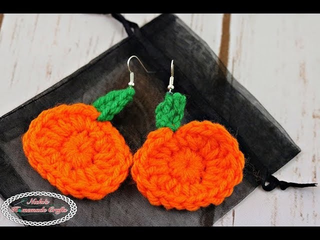 How to make Mini Pumpkin Earrings - Free Crochet Pattern