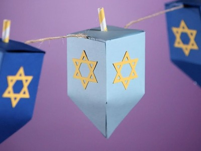 How To Make Paper Dreidel Garland | Southern Living