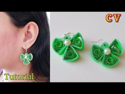 How to Make Quilling Earrings. Paper Quilling Earrings. Tutorial. Design 73