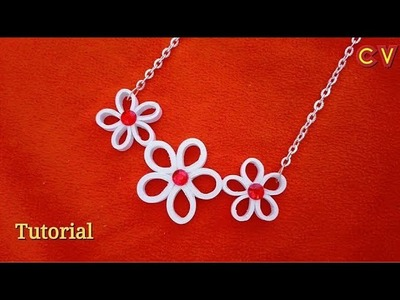 How to Make Quilling Paper Pendant. Paper Jewellery Making. Quilling Pendant. DIY 6