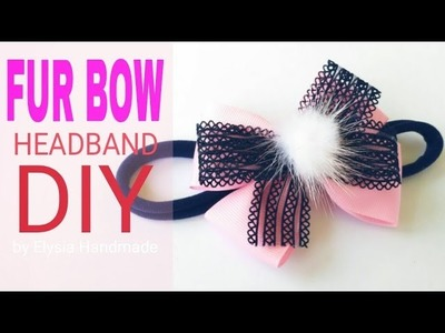 How To Make Ribbon Bow Headband For Baby, Toddler & Kids | DIY by Elysia Handmade