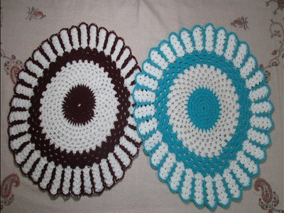 How to make Round Crochet Table mat.[Hindi]
