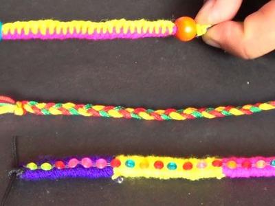 How to make simple friendship.rakhi band?- Using simple knitting method