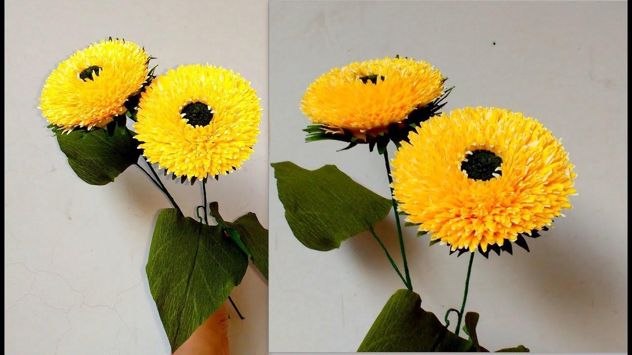 How to make Teddy Bear Sunflower. Helianthus Annuus Teddy Bear (flower# 201)