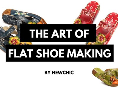 HOW TO MAKE THE FLOWER FLAT SHOES   NEWCHIC