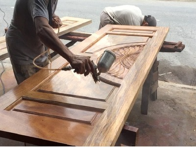 How To Polishing And Paint A Big Wooden door