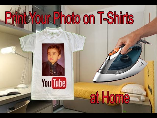 how to print your photo on t shirts at home using