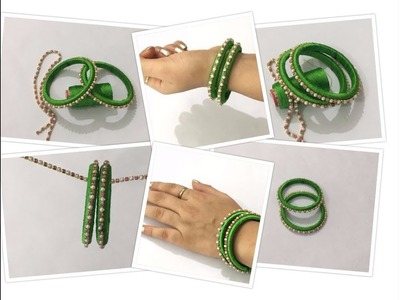 How to recycle old Bangles into Designer Silk thread Bangles || Creative Things