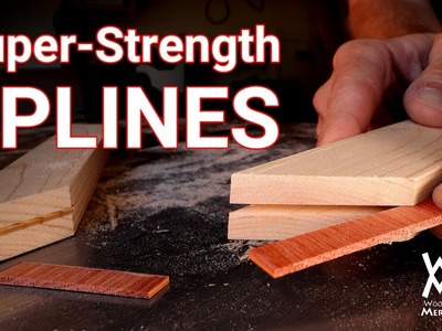How to reinforce miter joints with super-strong splines. Simple woodworking jig.