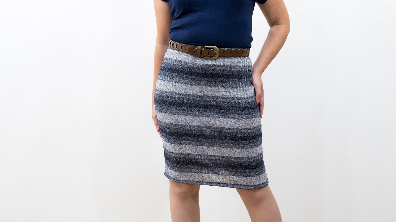 how to sew a knit pencil skirt pattern and assembly my