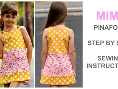 HOW TO SEW A PINAFORE; GIRLS DRESS; SUMMER DRESS; PULLOVER; MIMI; TUNIC