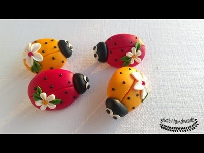 ~JustHandmade~ How to make a polymer clay (fimo) ladybug brooch