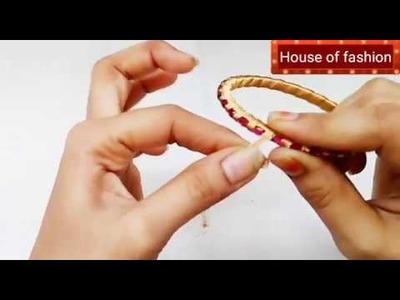 Kundan Bangles|How To Make Silk thread Bangles|Simple&Beautiful. !