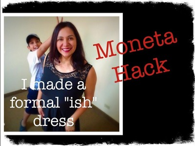 "Moneta Bodice Hack + Margarita Skirt = Formal ""ish"" Little Black Dress.  The ""How to""."
