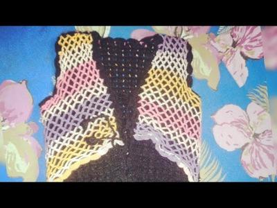New multi colour crochet sweater design