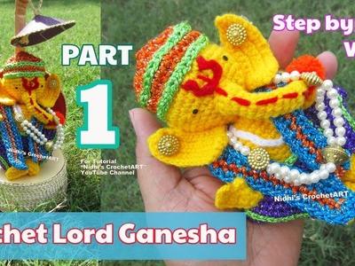 PART 1- Crochet Ganesha Lord Ganpati- Amigurumi Step by Step Video Tutorial for Beginners
