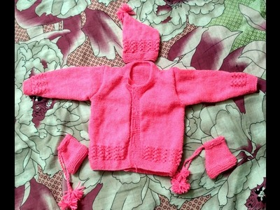 Part 4 | woolen sweater designs for kids or baby in hindi - how to knit one colour sweater for kids