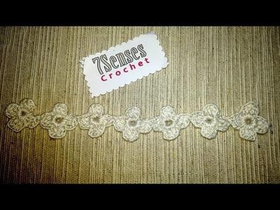 """Portuguese Crochet Flower """"Miosotis"""" -  Flor Portuguesa en Crochet"""