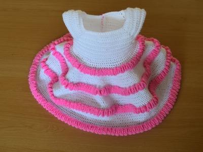Princess  crochet baby dress part 1