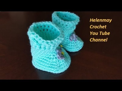 Quick Easy Beginner Perfect Crochet Baby Braided Cable Booties Part 1 of 2