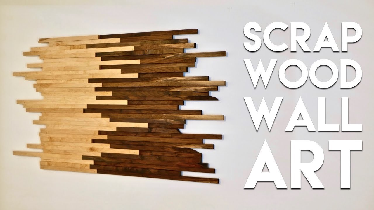 Scrap Wood Wall Art Made From Walnut & Maple, How To Build - Woodworking, My Crafts and DIY Projects