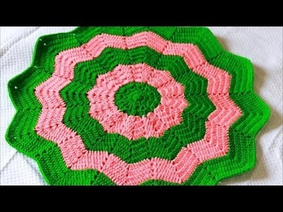 Star Blanket Part 2 of 2 -Baby Blanket-Classic Round Ripple Crochet Baby Blanket