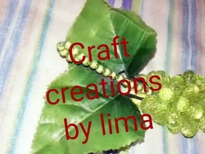 পুতির আঙুর||পুতির ফল||How to make beaded fruits grape||Putir angur||Diy craft