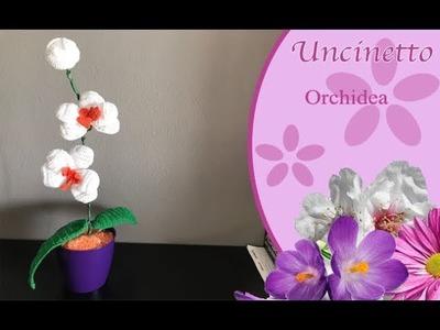 Uncinetto fiore: Orchidea - How to do orchid