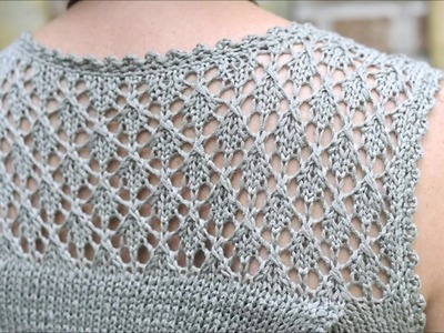 Valerie - Lace yoke tunic - Knitting Lace Pattern Presentation - no tutorial