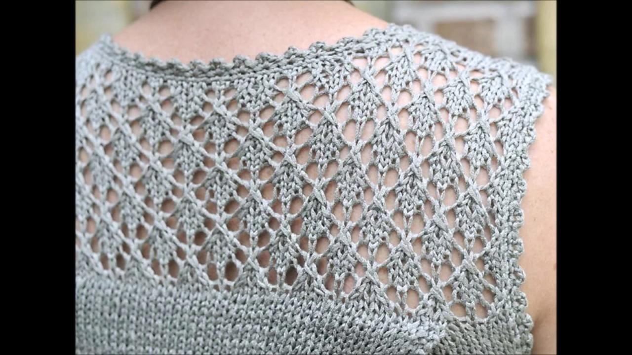 Lace Yoke Knitting Pattern : Valerie - Lace yoke tunic - Knitting Lace Pattern ...