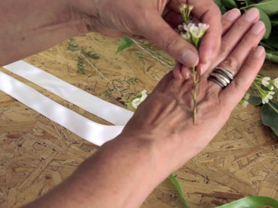 Wedding Flowers - How to wire and tape flowers and foliage by Campbell's Flowers