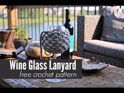 Wine Glass Lanyard Crochet Tutorial