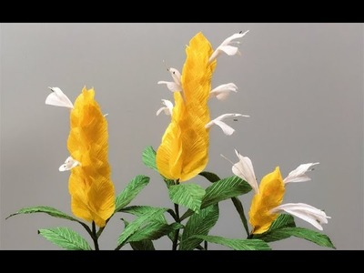 ABC TV | How To Make Pachystachys Lutea Paper Flower From Crepe Paper - Craft Tutorial