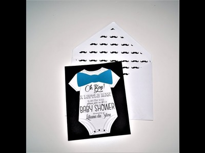 Baby shower decorations ideas | How to make a little man invitation | Sugarella Sweets Party