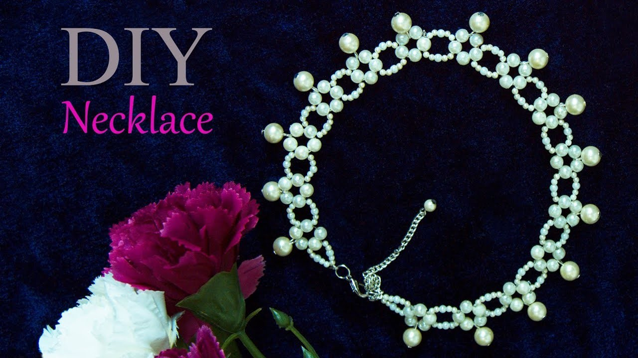 Beautiful pearl necklace | How to make Necklace at home | Bridal necklace | DIY