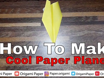 BEST ORIGAMI PAPER PLANE How to make a cool paper plane origami   Easy tutorial  How to make a paper
