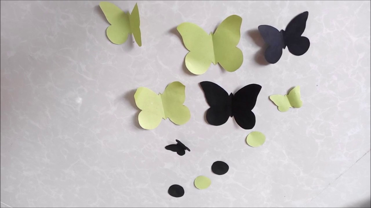 Cool wall decorating idea diy how to decorate your for How to decorate a paper butterfly