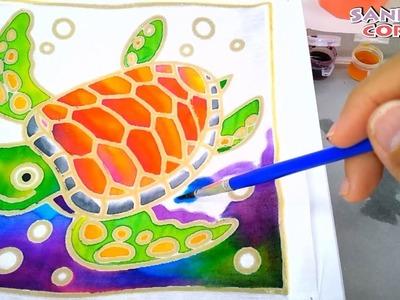 DIY Batik Painting Technique For Kids- creative way to paint batik