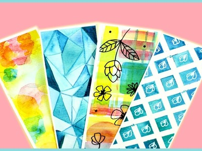 DIY: Bookmarks & Watercolor Techniques for Beginners Part 3   Watercolor DIY   How To Make Bookmarks