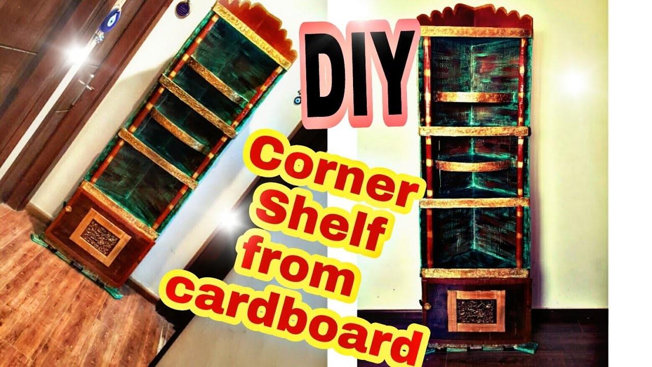 Diy Cardboard Furniture Corner Shelf How To Make