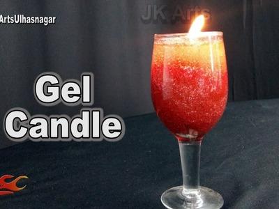DIY Glitter Gel Candles   How to make   JK Arts 1271