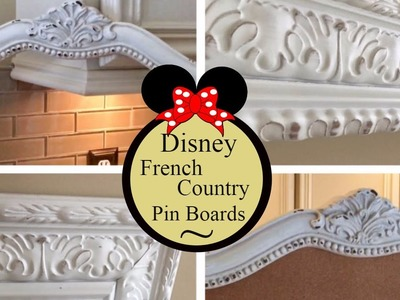 DIY ! How To Make A Disney Pin Cork Board !  Disney Fun With Grown Up Style !