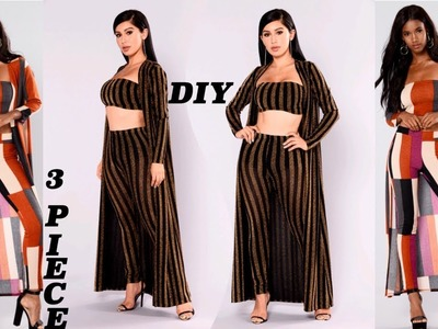 DIY. How To Make a Maxi Cardigan. Duster Jacket. 3 Piece Set