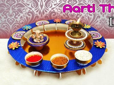 DIY : How to make Aarti Thali Decoration | Handmade thali | puja thali | Art with Creativity 268