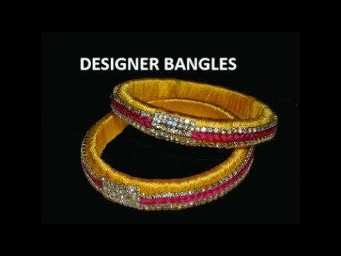 DIY How to make Designer Silk thread Bangles at Home (Dolls and Craft)