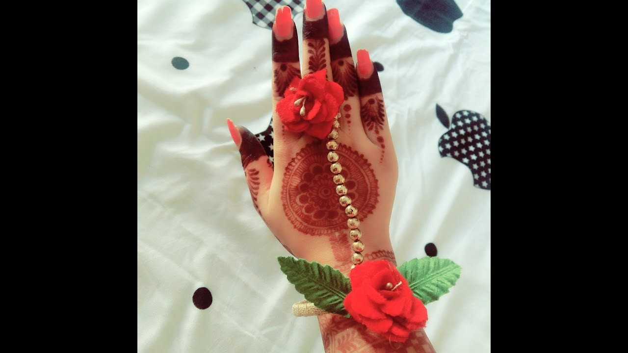 Diy-how to make easy n beautiful artificial haathphool jewellery.indian wedding favour (gift) ideas