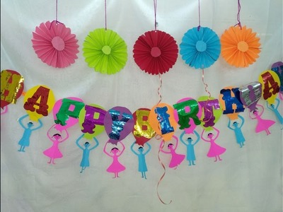 DIY Paper Crafts:How to make Birthday Banner at home for kids.Make your own birthday banner