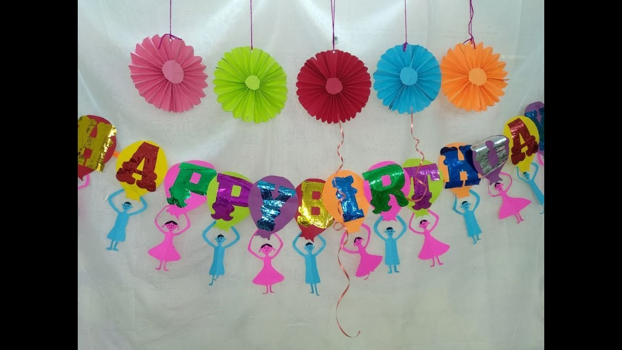 diy paper crafts how to make birthday banner at home for kids make